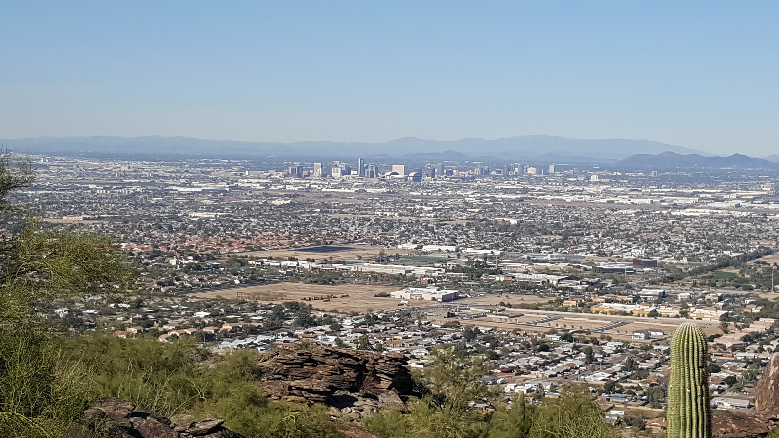 Phoenix Divorce Attorneys, View of the city of Phoenix, Arizona from South Mountain.