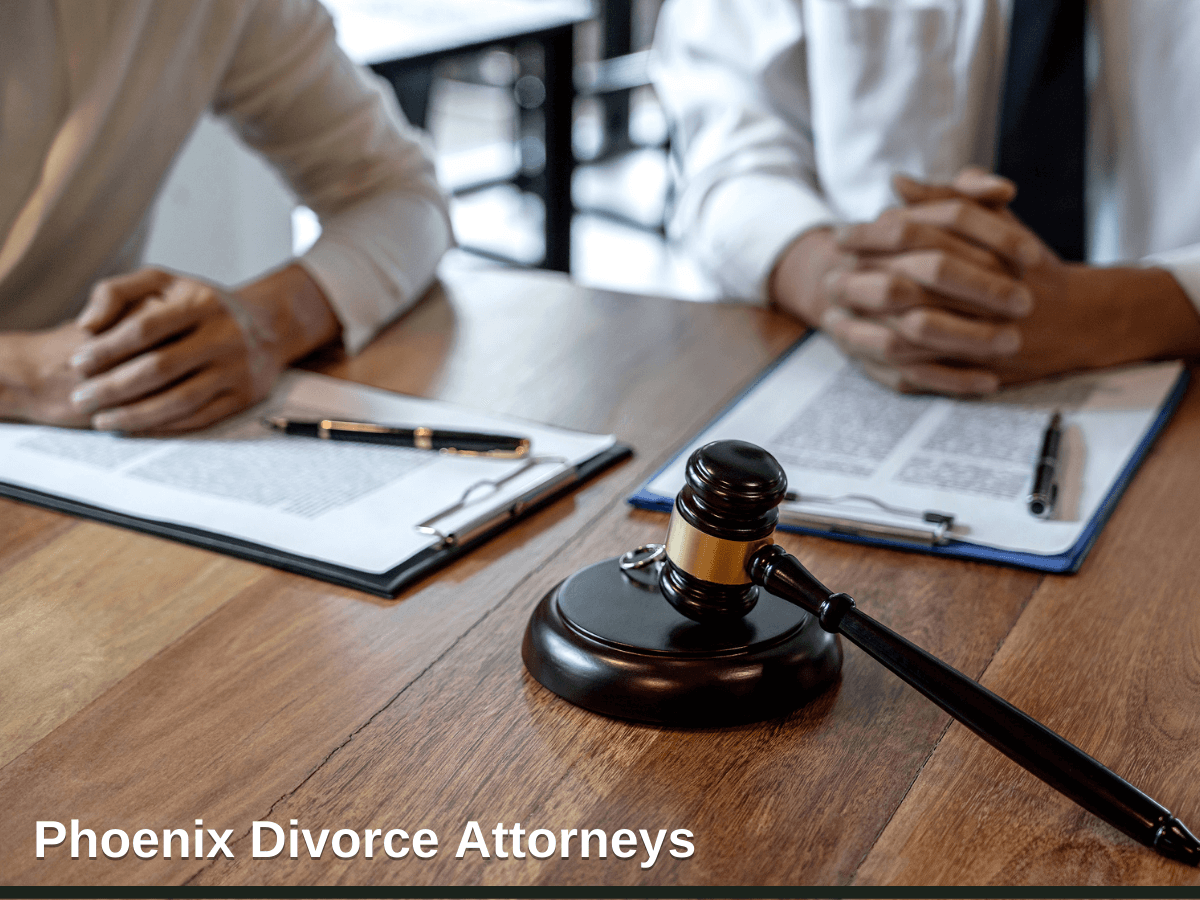 Husband and wife during divorce process and signing of divorce contract